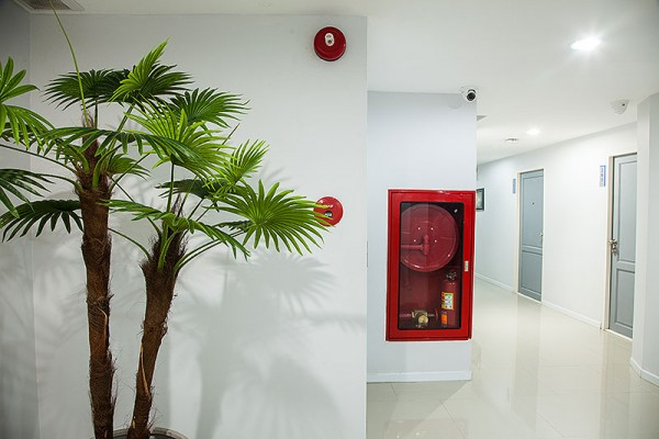 Portable fire extinguishers on every floor